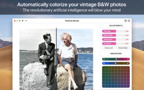 モノクロ写真をカラー化するmac用写真編集アプリ Photosrevive が240